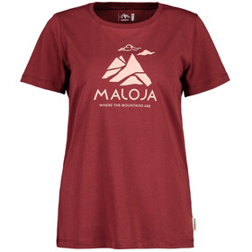 Maloja TurettaM. T-Shirt Donna, red monk